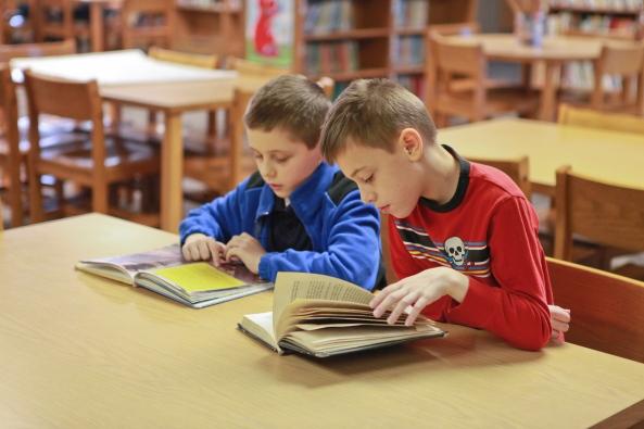 boys reading, Jenison Public Schools, Tom TenBrink
