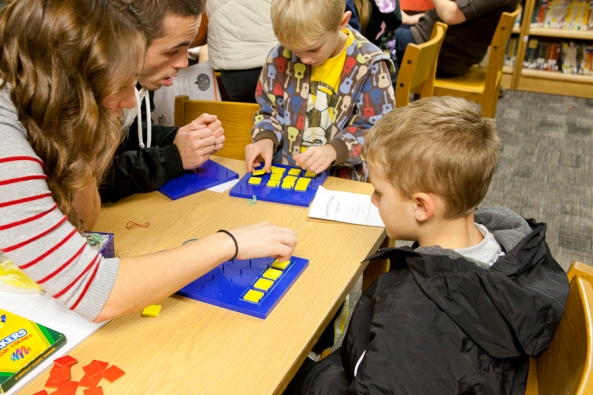 JPS Math Night, Rosewood Elementary, Grand Valley State University, GVSU