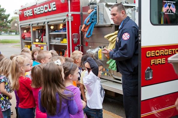 Jenison Public Schools, Fire Prevention Week, Sandy Hill Elementary School