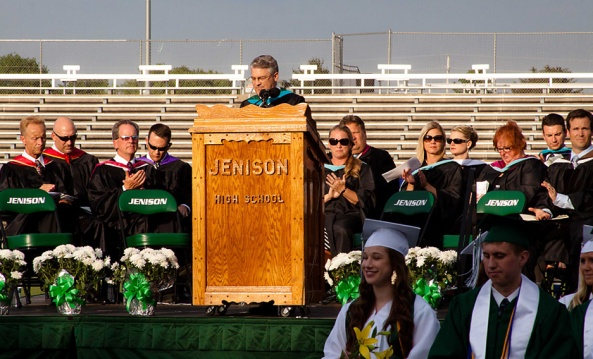Jenison Public Schools, Jenison High School graduation, Tom TenBrink, Brandon Graham