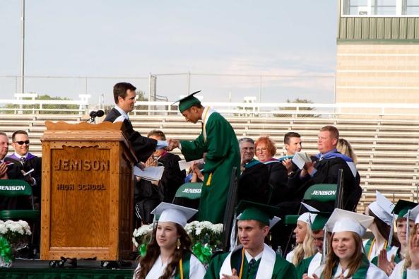 Jenison Public Schools, Jenison High School graduation, Tom TenBrink, Brandon Graham