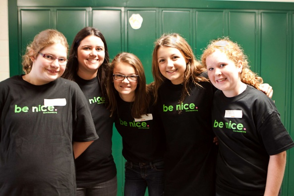 be nice, Jenison Junior High, Jenison Public School, anti-bully, anti-bullying campaign, bully prevention