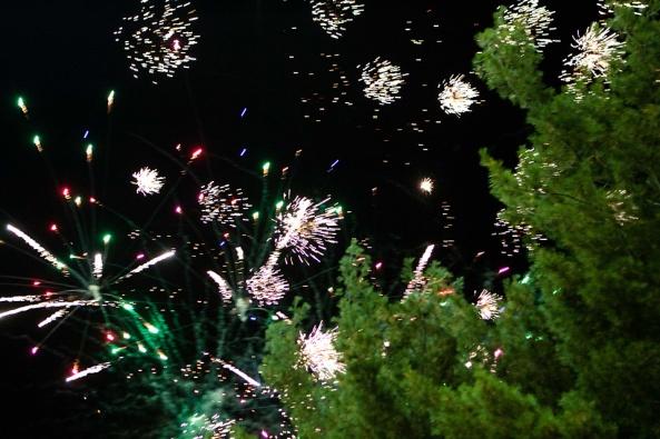 fireworks, Jenison High School Homecoming, parade