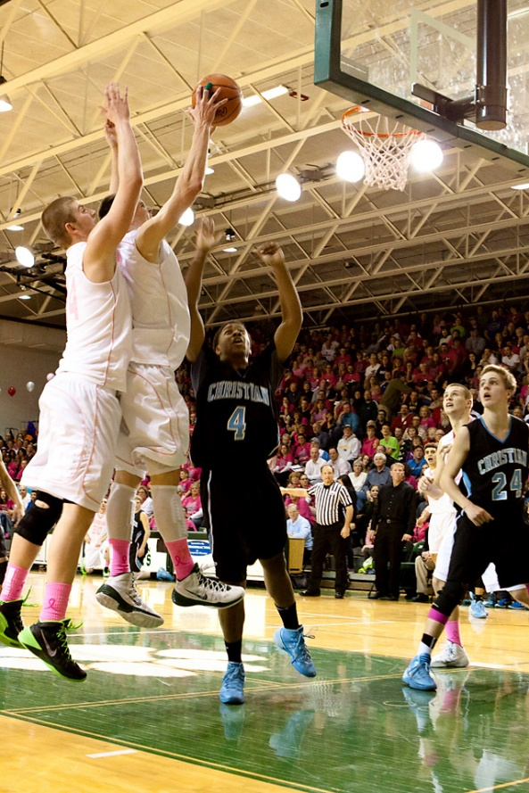 Jenison lost 55 - 51 to GR Christian but it was hard fought!