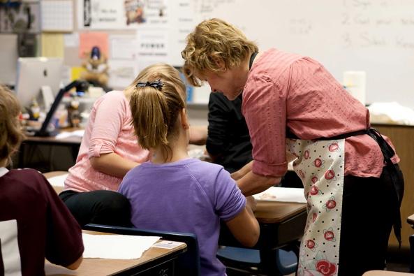 Mrs. Bergeon lends a hand!