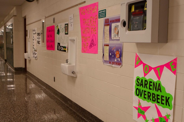 The hallways were covered with creative campaign posters!