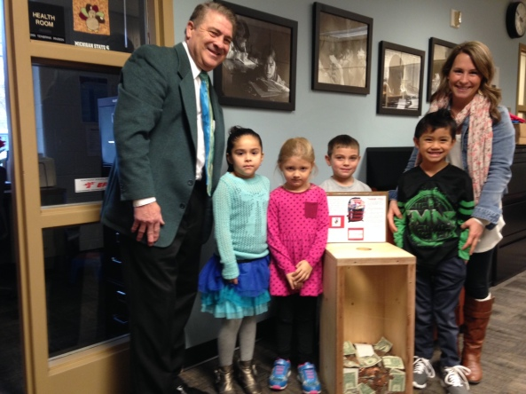 Superintendent Tom TenBrink and the ECC Top Collecting Class!  Way to go!