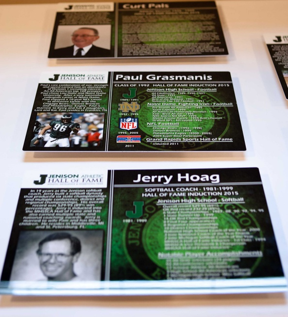 A sampling of the commemorative plaques honoring the inductees